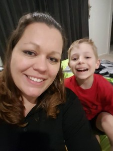 Monique Speakman and her son Lucas Speech Pathology