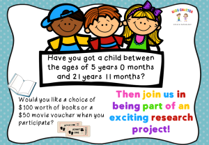 Want to be part of an exciting research project?