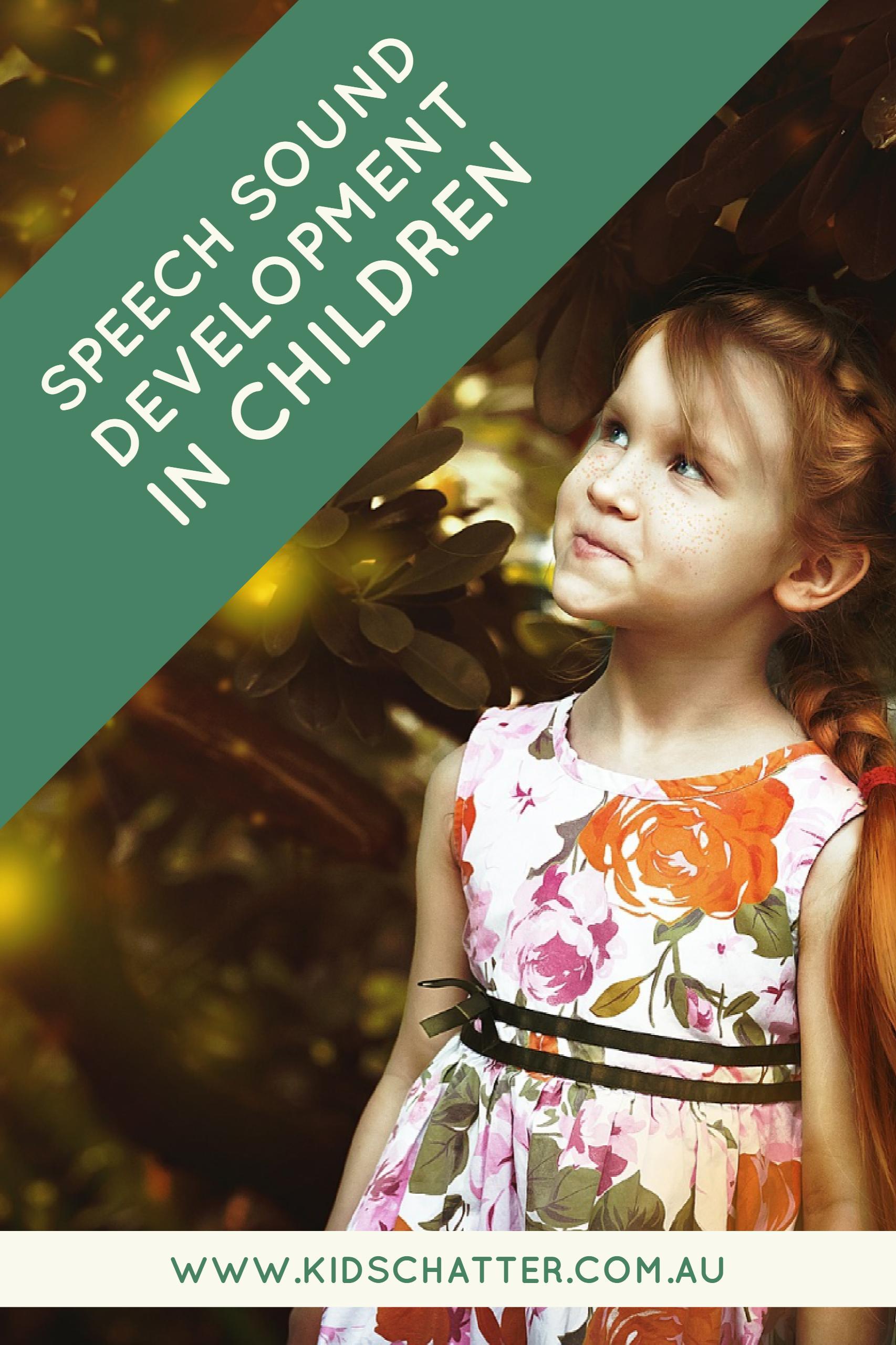 Speech sound development in children
