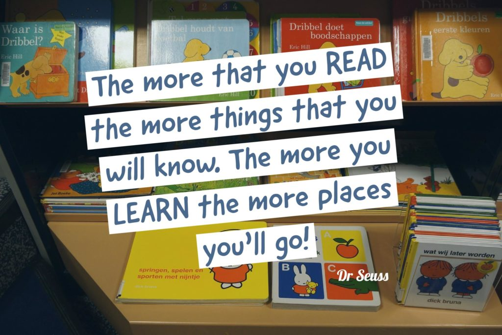 Dr Seuss reading quote
