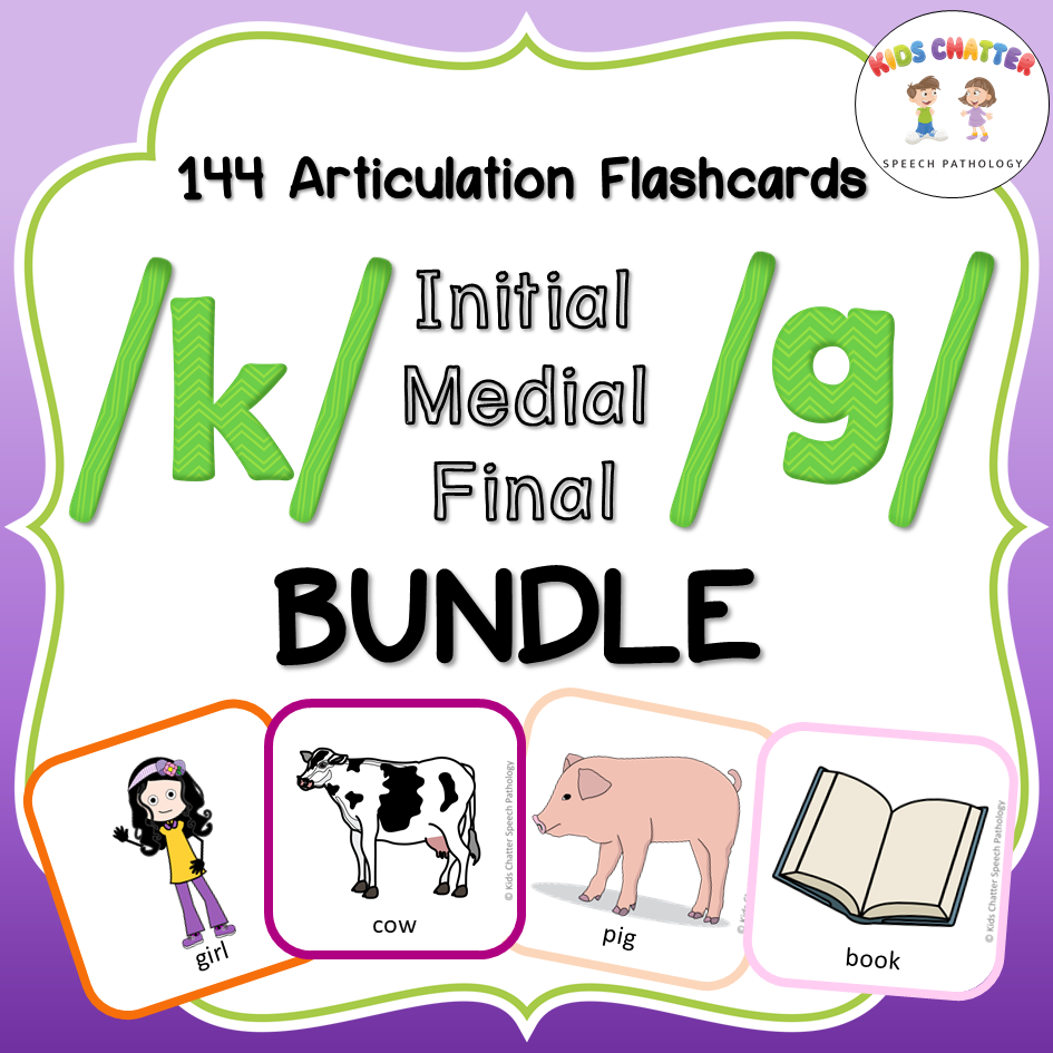 K and G all positions bundle Flashcards Kids Chatter Speech Pathology