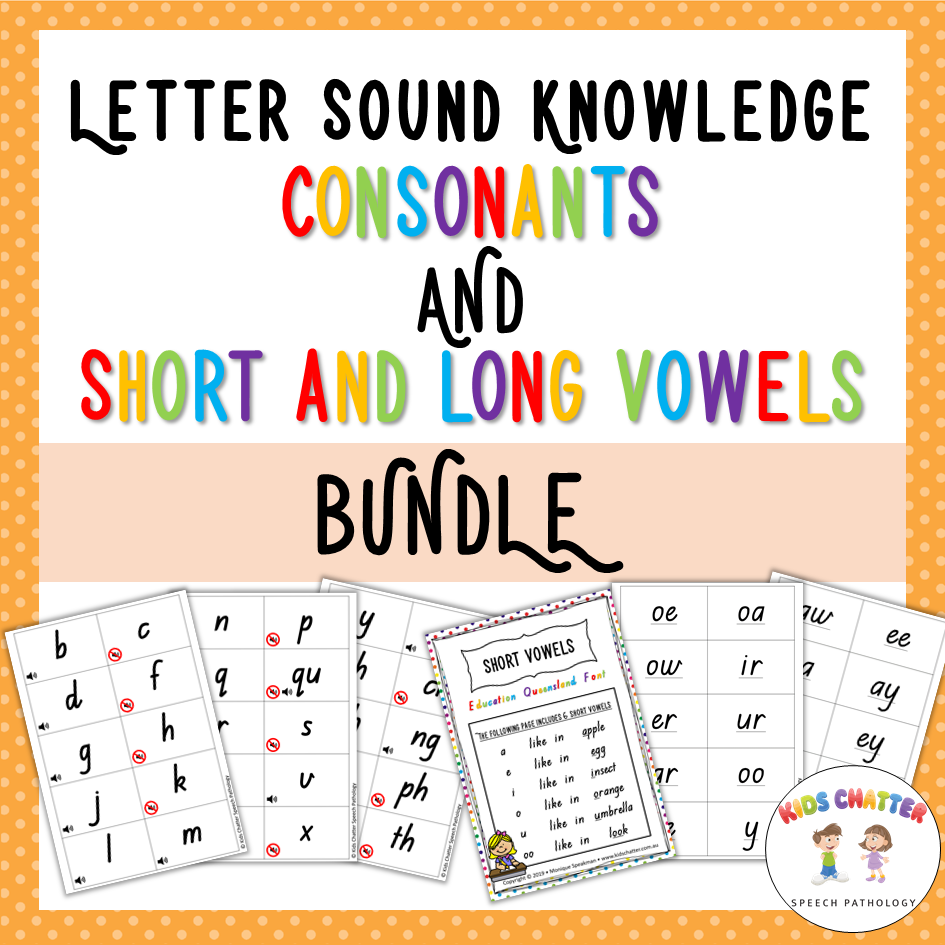 Letter Sound Knowledge Bundle Kids Chatter Speech Pathology