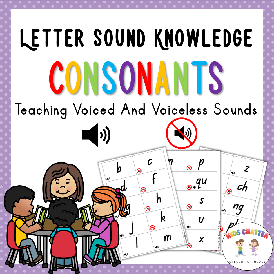 Letter Sound Knowledge Consonants Kids Chatter Speech Pathology