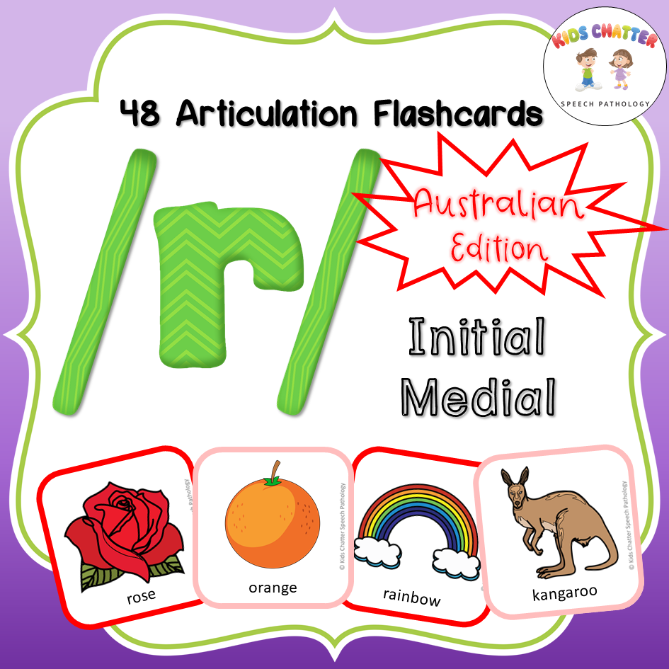 R Initial Medial Flashcards Kids Chatter Speech Pathology