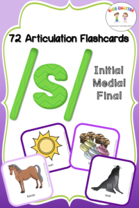 S Initial Medial Final Flashcards - Kids Chatter Speech Pathology