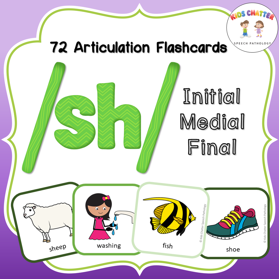 SH Initial Medial Final Flashcards Kids Chatter Speech Pathology