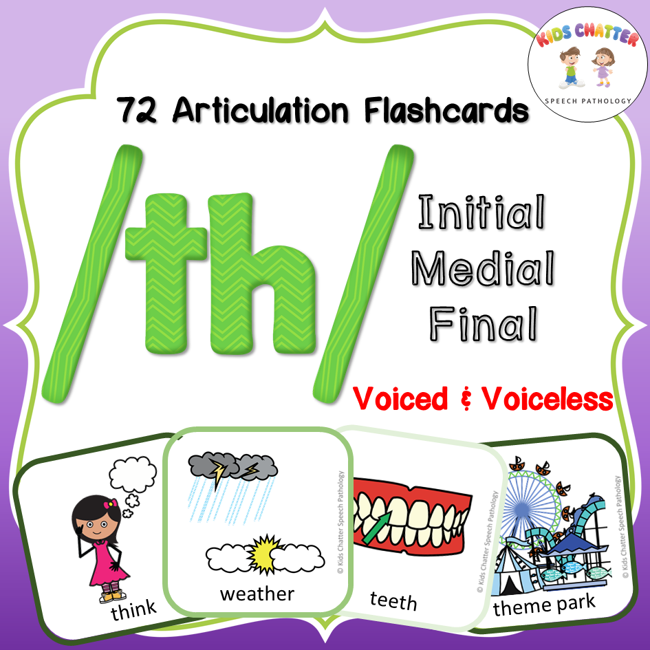 TH Initial Medial Final Flashcards Kids Chatter Speech Pathology