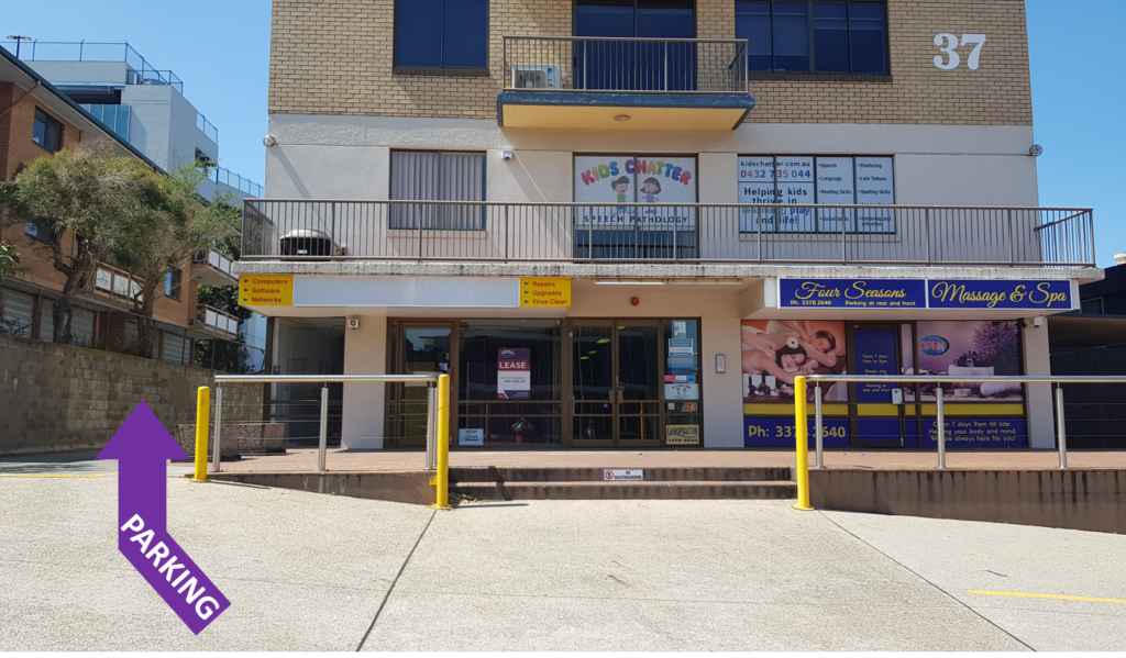 Kids Chatter Speech Pathology Building and Parking